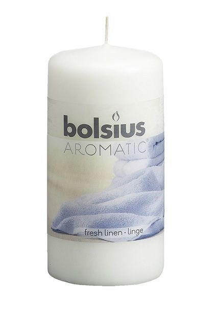 Bolsius stompkaars Aromatic Fresh Linen 100/58 mm