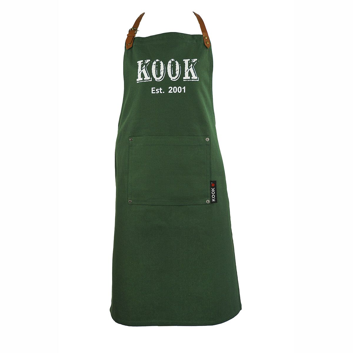 KOOK Keukenschort Vintage Groen