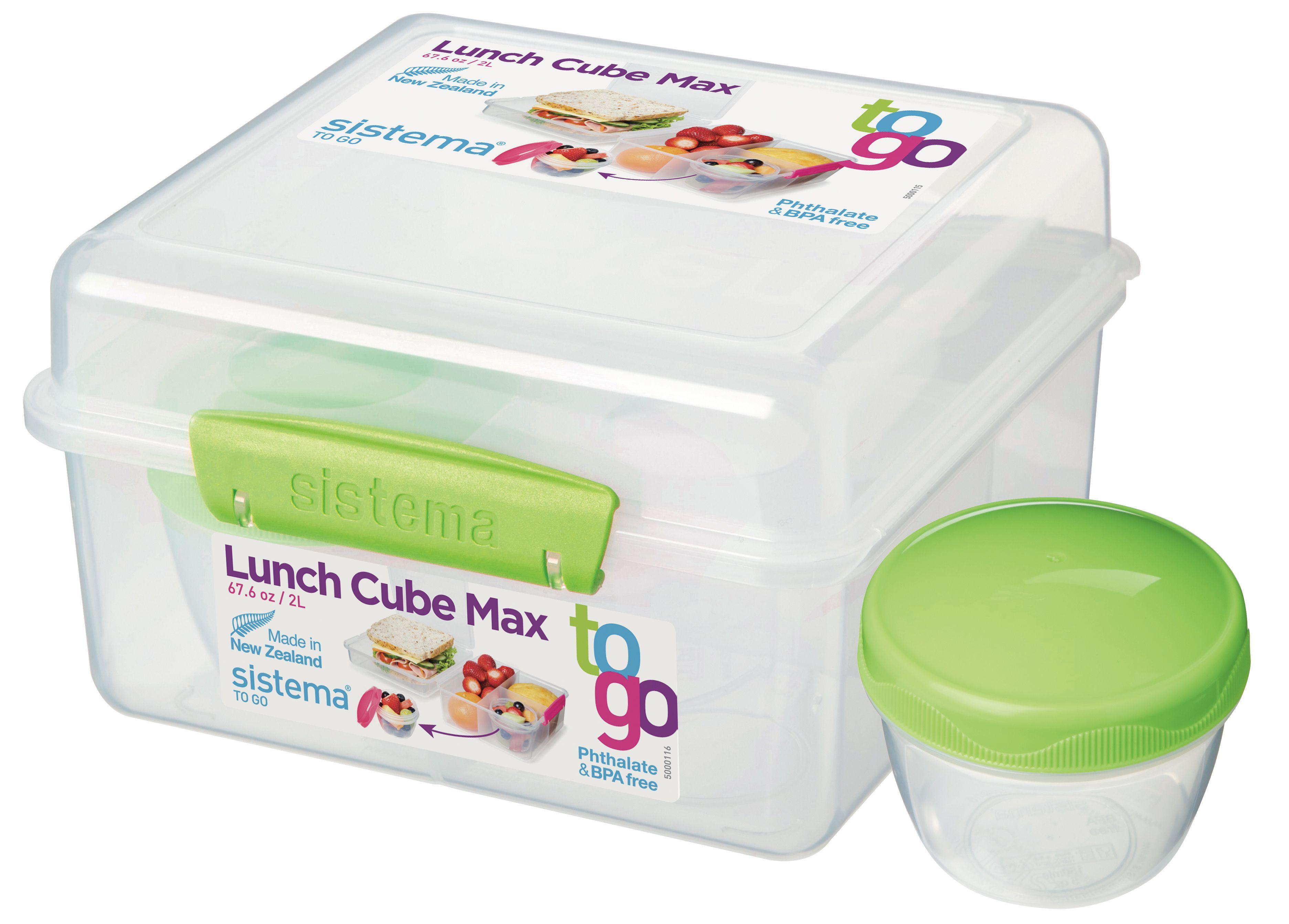 Sistema-Lunchbox-To-Go-Cube-Groen