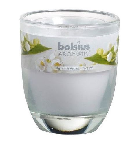 Bolsius geurkaars in glas Aromatic Lily of the Valley 120/100 mm