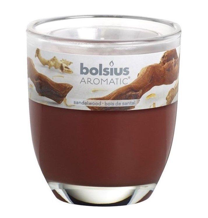 Bolsius geurkaars in glas Aromatic Sandalwood 120/100 mm