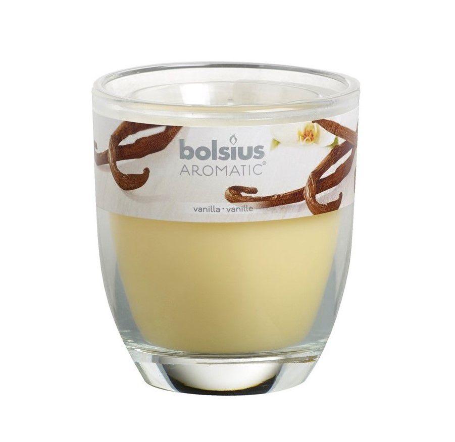 Bolsius geurkaars in glas Aromatic Vanilla 80/70 mm