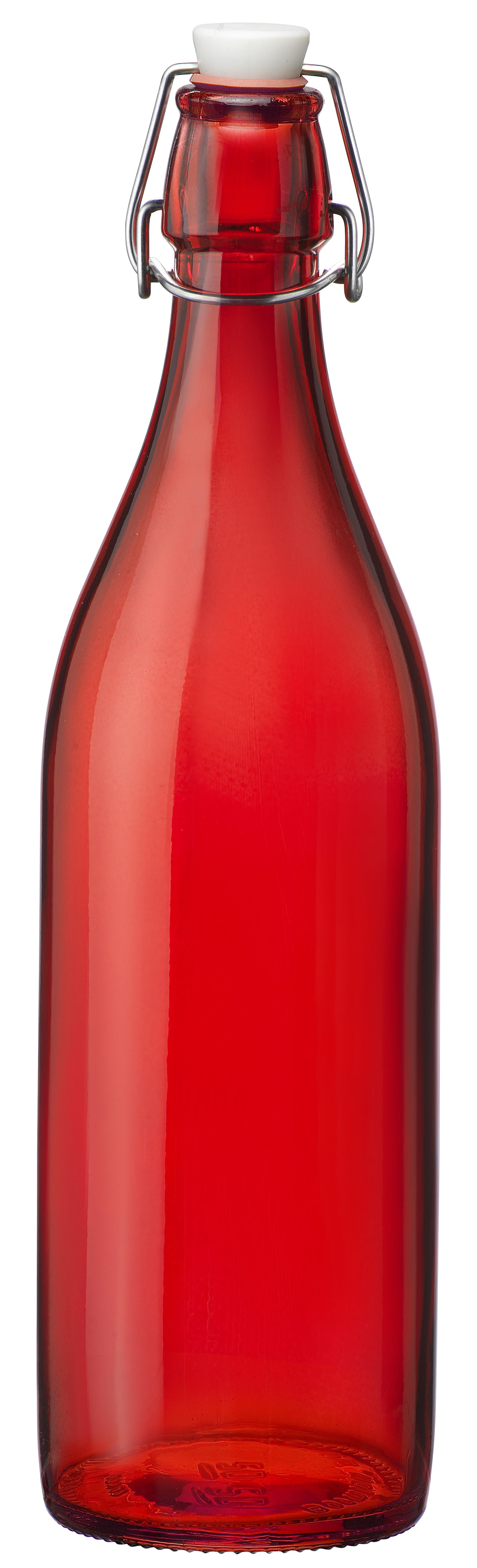 Bormioli beugelfles Giara rood