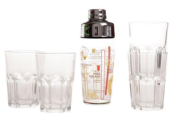 Cocktailshaker met Glazen