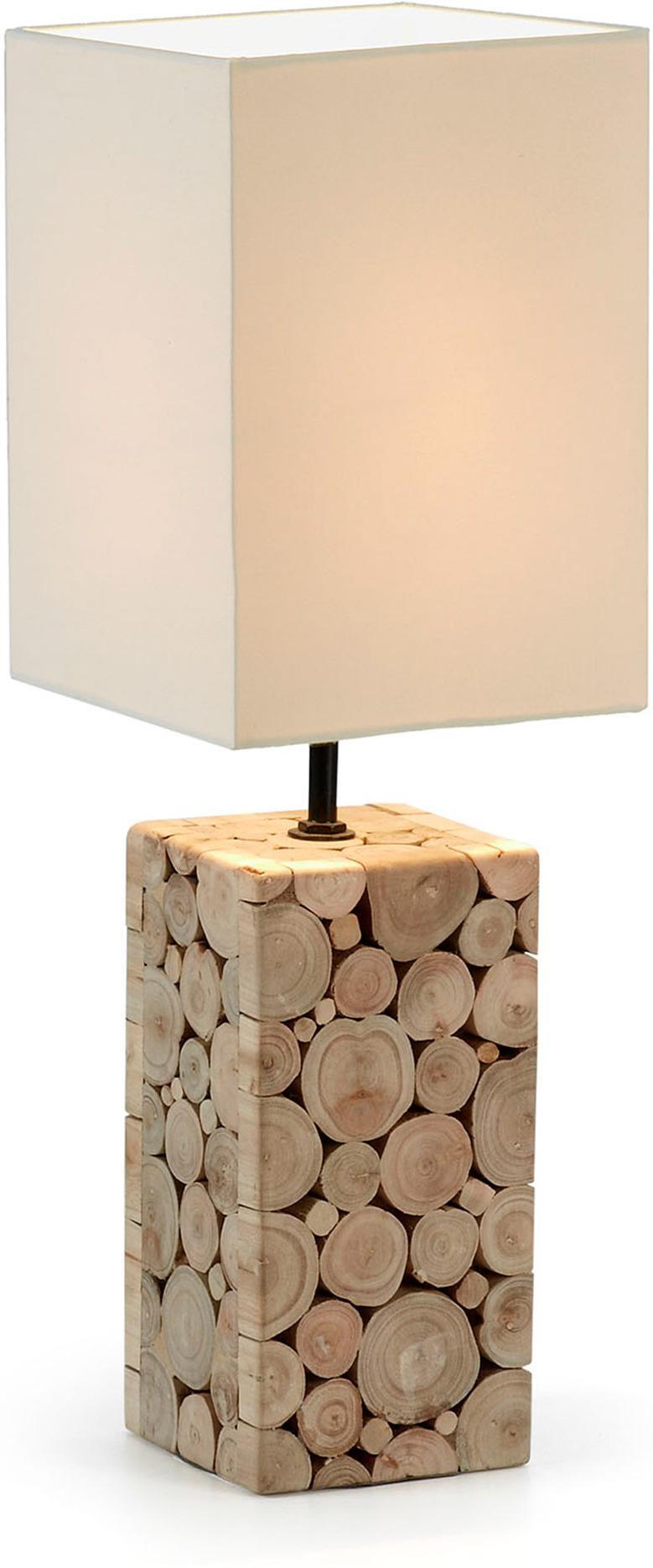laforma tischlampe silvan wei holz la forma. Black Bedroom Furniture Sets. Home Design Ideas