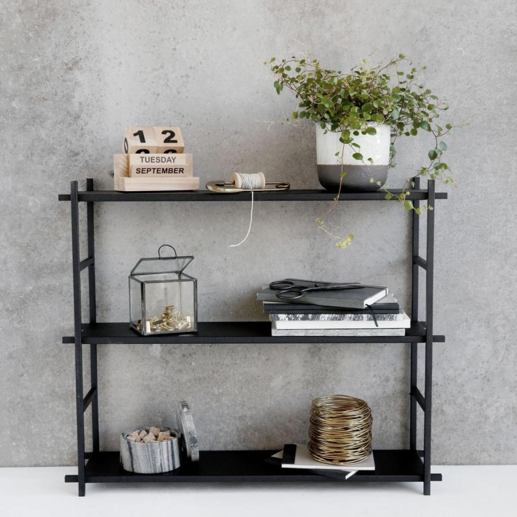 House doctor wandkast simple zwart metaal designwonen for House doctor verlichting