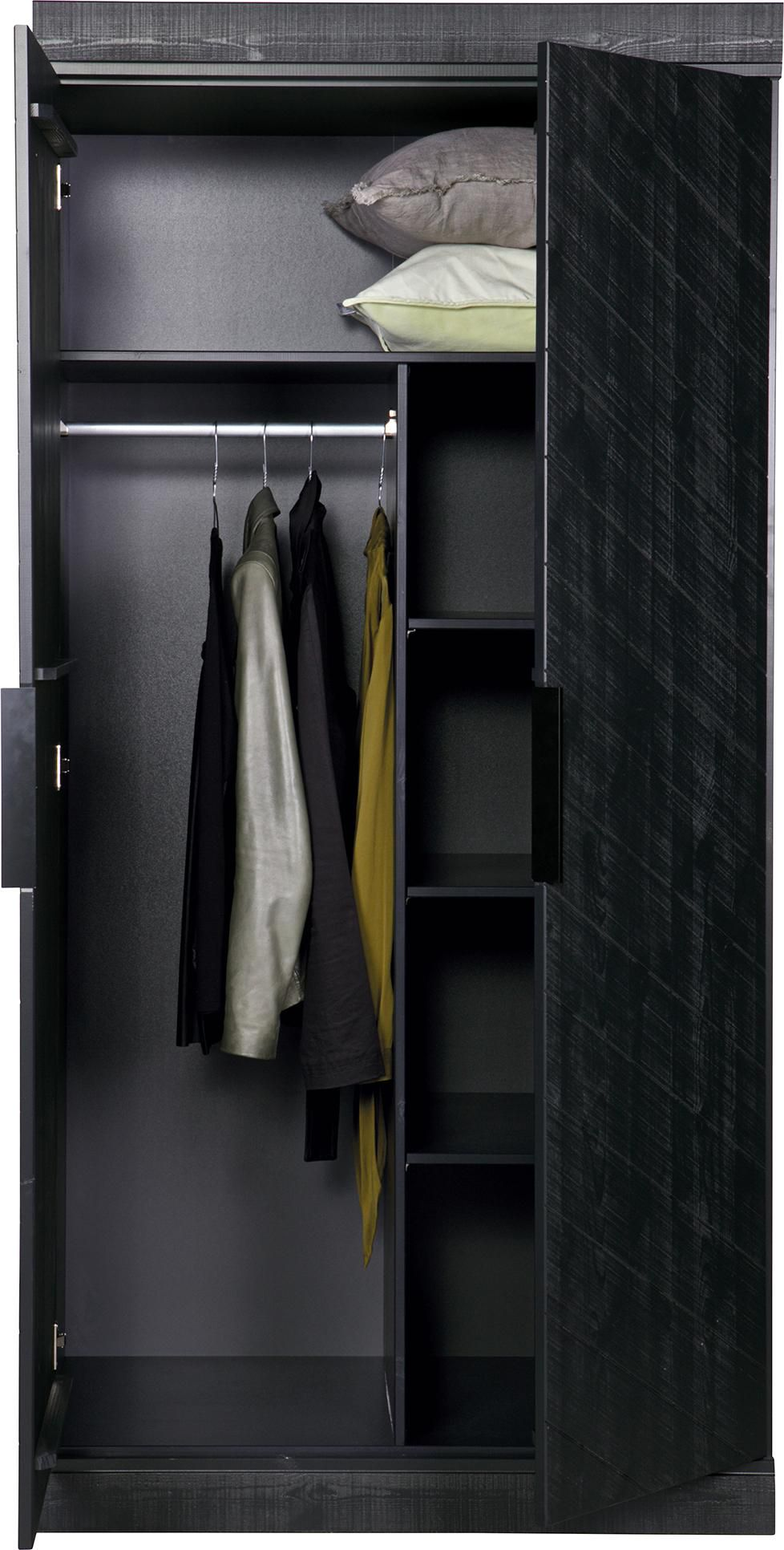 woood innenausstattung connect ohne schrank 2 regale schwarz. Black Bedroom Furniture Sets. Home Design Ideas