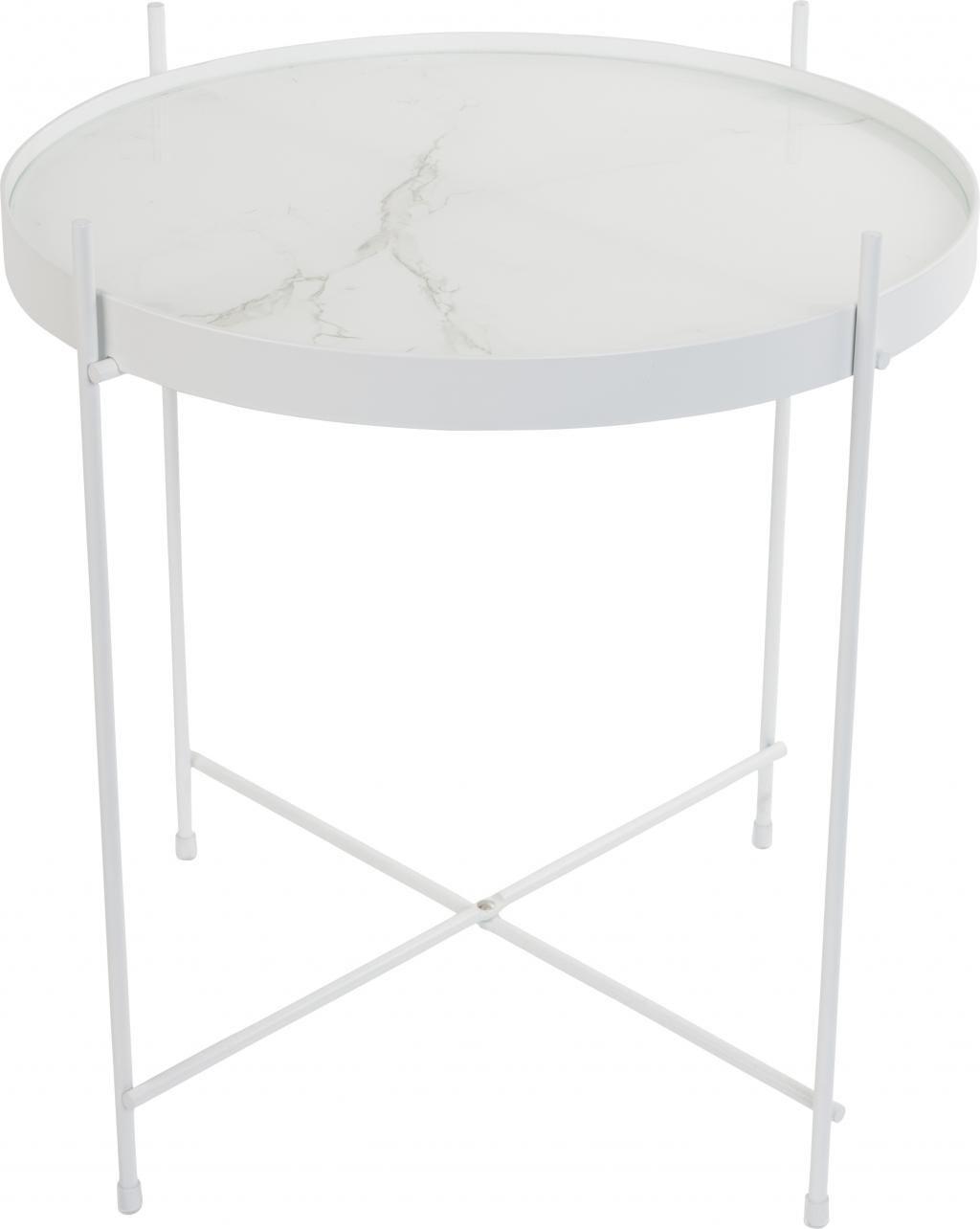 Zuiver beistelltisch cupid marmor wei for Marmor esstisch weiss