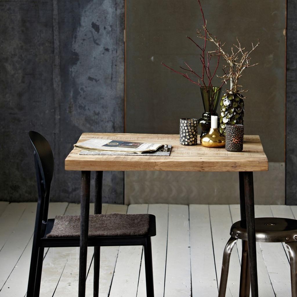 house doctor tisch slated 70x70x76 cm. Black Bedroom Furniture Sets. Home Design Ideas