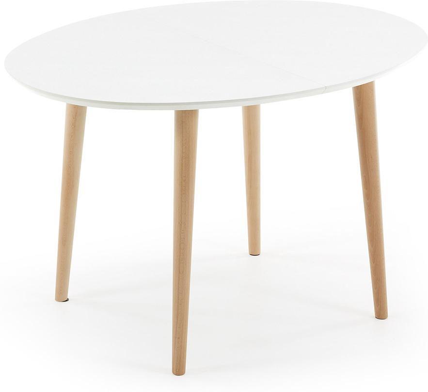 Laforma eettafel oqui verlengbaar 120 200 x 90 cm wit la for Table oqui ovale extensible 120 200 cm