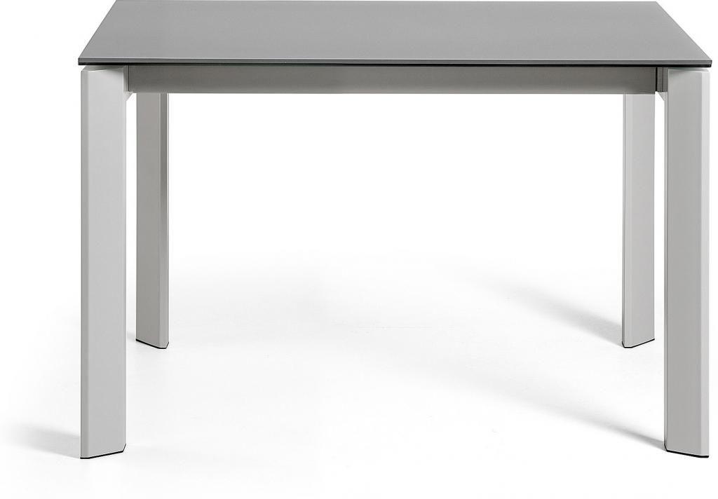 laforma esstisch atta grau graues glas ausziehbar 120 180 x80x76cm la forma. Black Bedroom Furniture Sets. Home Design Ideas