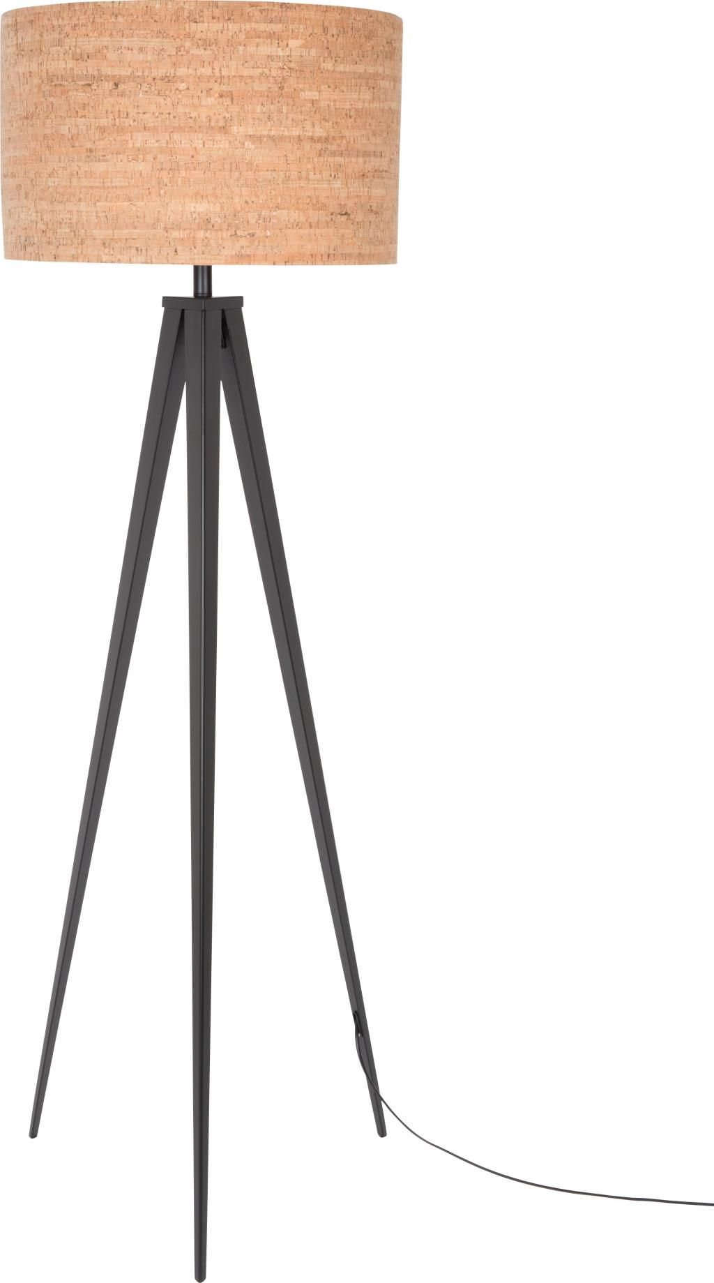 zuiver stehlampe kork tripod schwarz. Black Bedroom Furniture Sets. Home Design Ideas