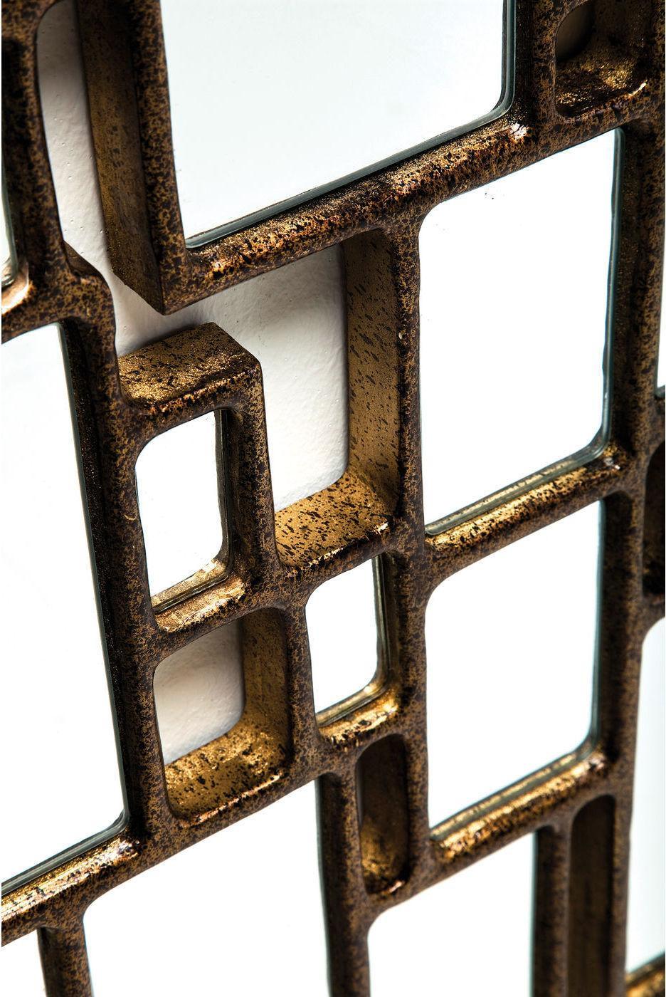 kare design spiegel cubes 132x54cm koper meubelen verlichting. Black Bedroom Furniture Sets. Home Design Ideas