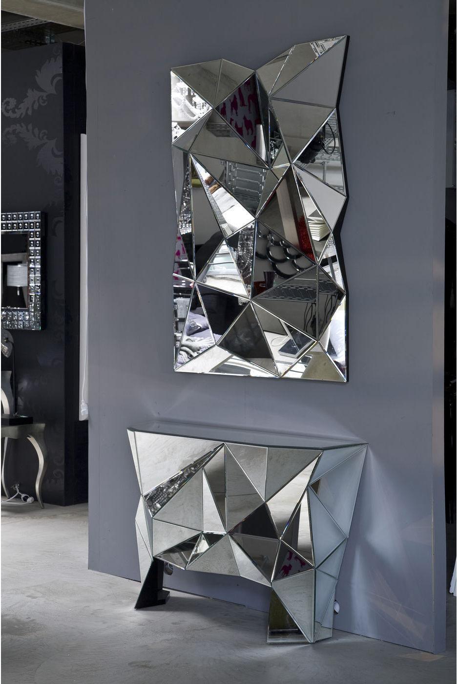 kare design spiegel prisma 120x80cm. Black Bedroom Furniture Sets. Home Design Ideas