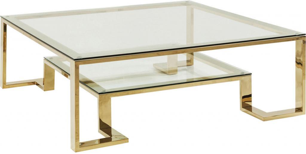couchtisch gold kare design couchtisch gold rush 120x120cm