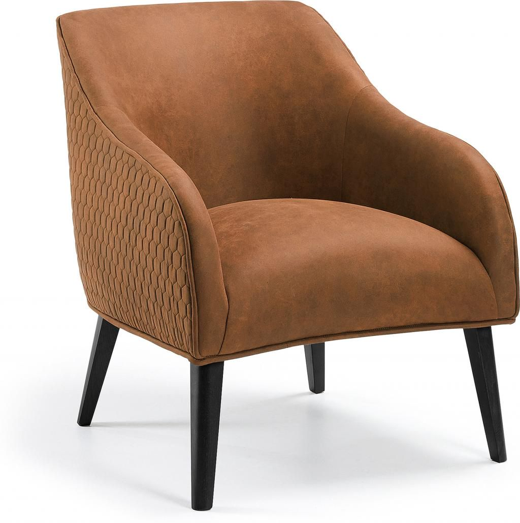 laforma sessel lobby braun stoff buchenholz la forma. Black Bedroom Furniture Sets. Home Design Ideas