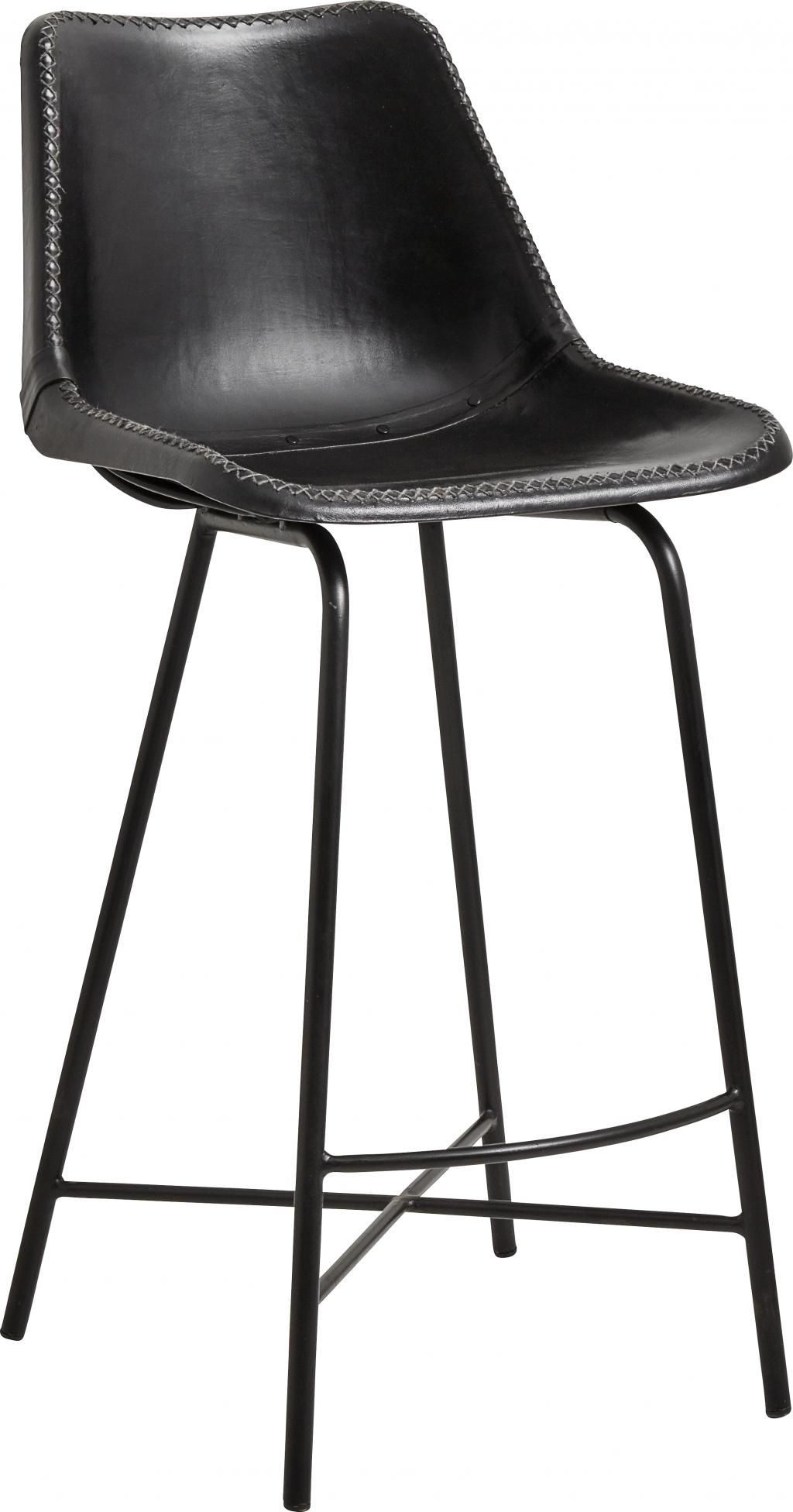 nordal barhocker leder schwarz 99x46 cm. Black Bedroom Furniture Sets. Home Design Ideas