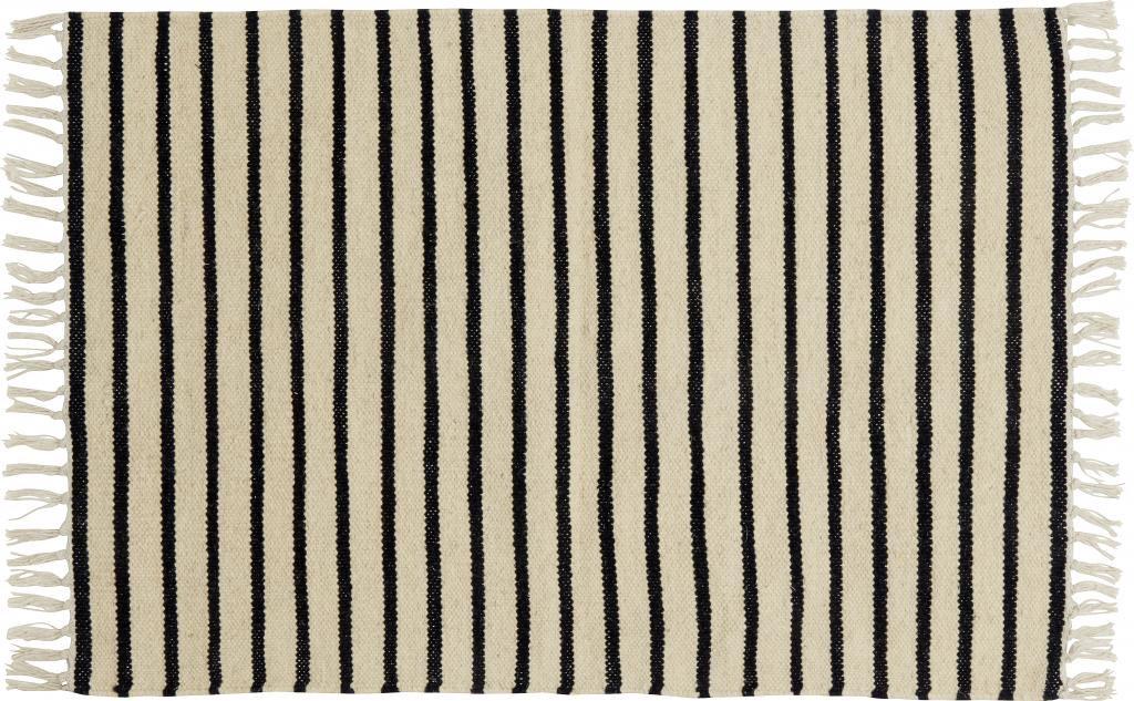 nordal teppich signature wolle schwarz wei gestreift 250x200 cm. Black Bedroom Furniture Sets. Home Design Ideas