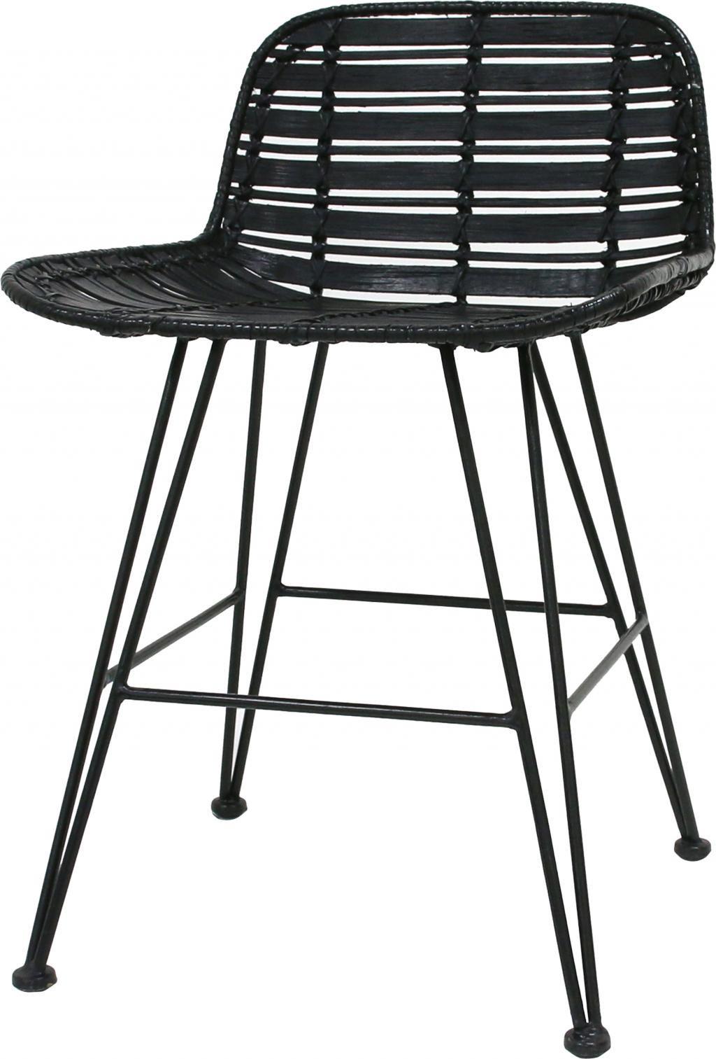 hk living barhocker mini schwarz. Black Bedroom Furniture Sets. Home Design Ideas