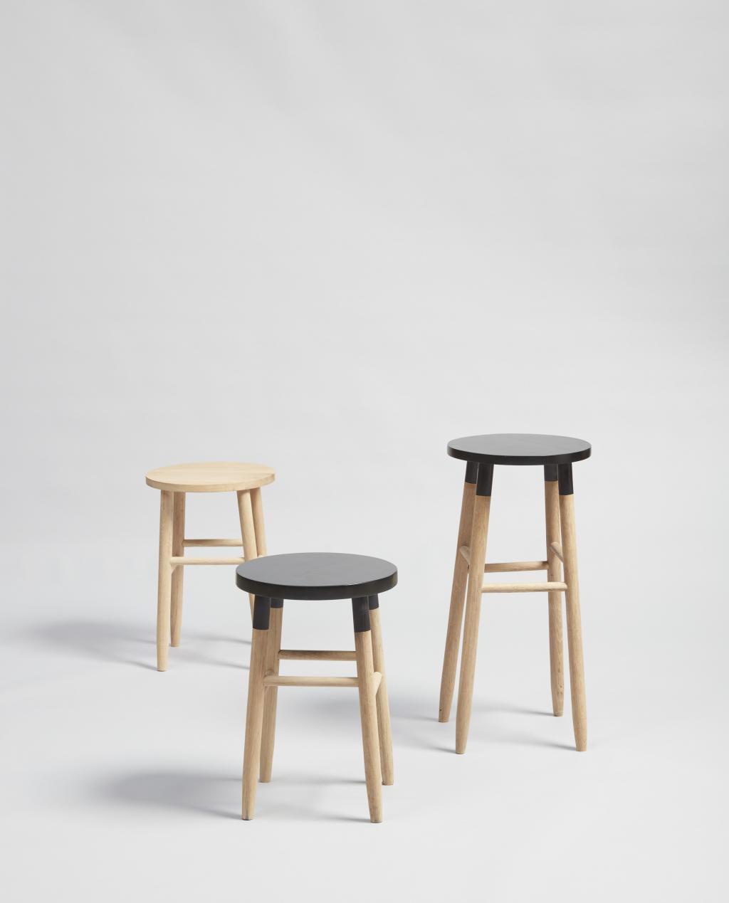 hubsch barhocker eiche natur wei 35x72 h bsch. Black Bedroom Furniture Sets. Home Design Ideas