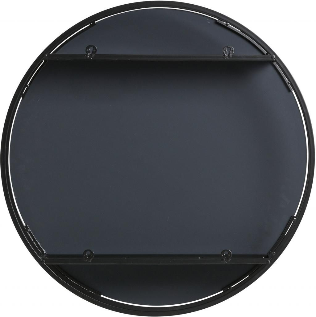 Woood spiegelschrank olivia rund 60cm metall for Spiegelschrank rund
