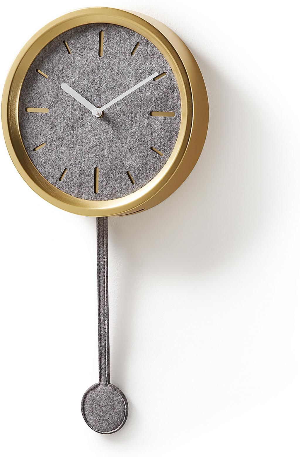 laforma wanduhr nexo mit pendel gold metall la forma. Black Bedroom Furniture Sets. Home Design Ideas