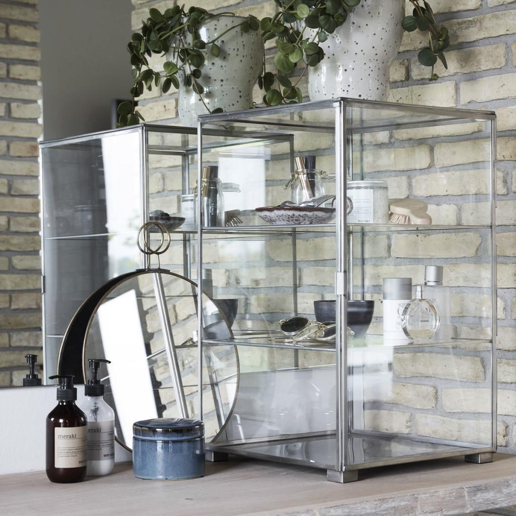 House doctor vitrinekast zink metaal glas designwonen for House doctor verlichting
