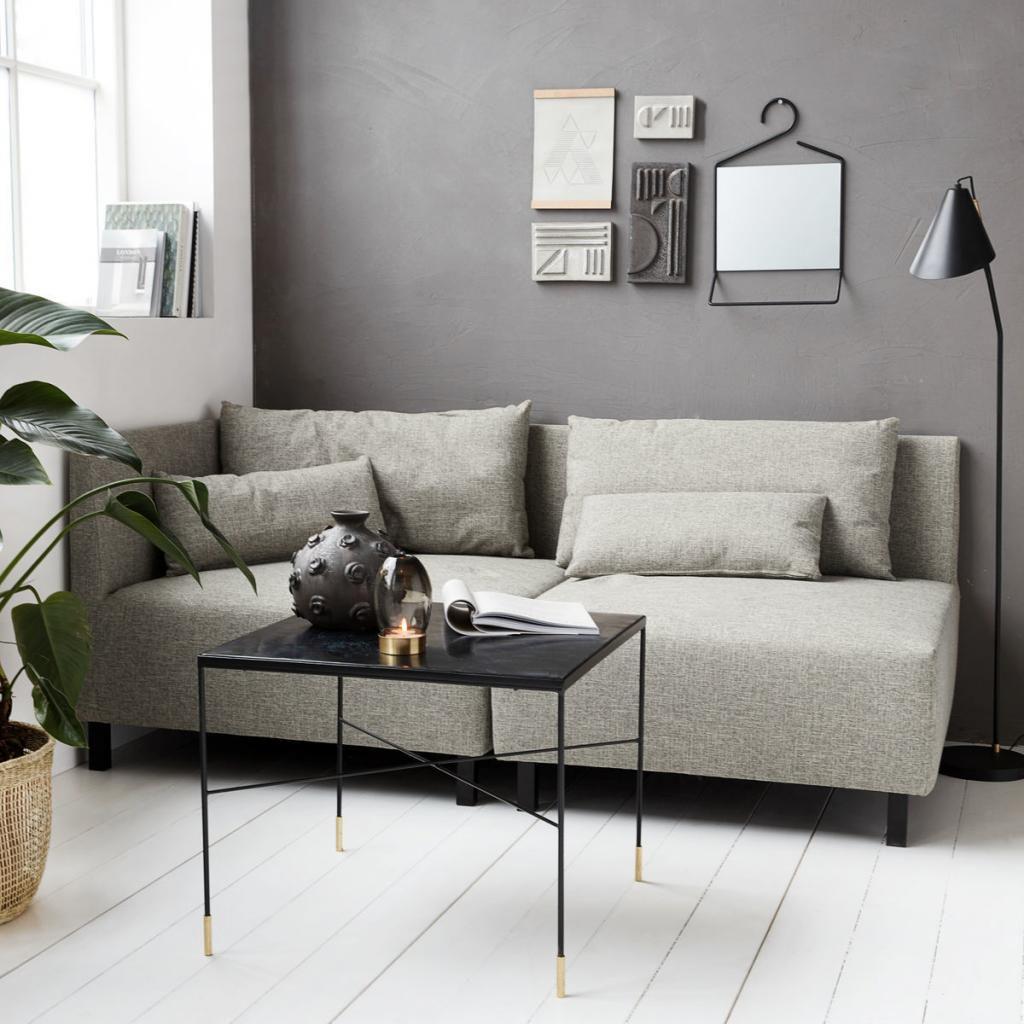 house doctor fauteuil en bankelement box met 2 kussens grijs melange house doctor designwonen. Black Bedroom Furniture Sets. Home Design Ideas