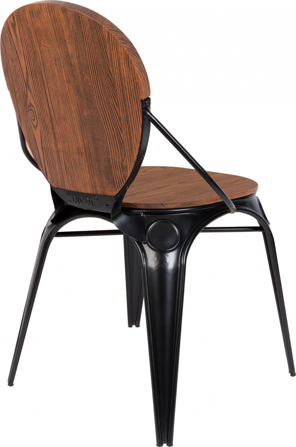 zuiver stuhl louix holz schwarz. Black Bedroom Furniture Sets. Home Design Ideas