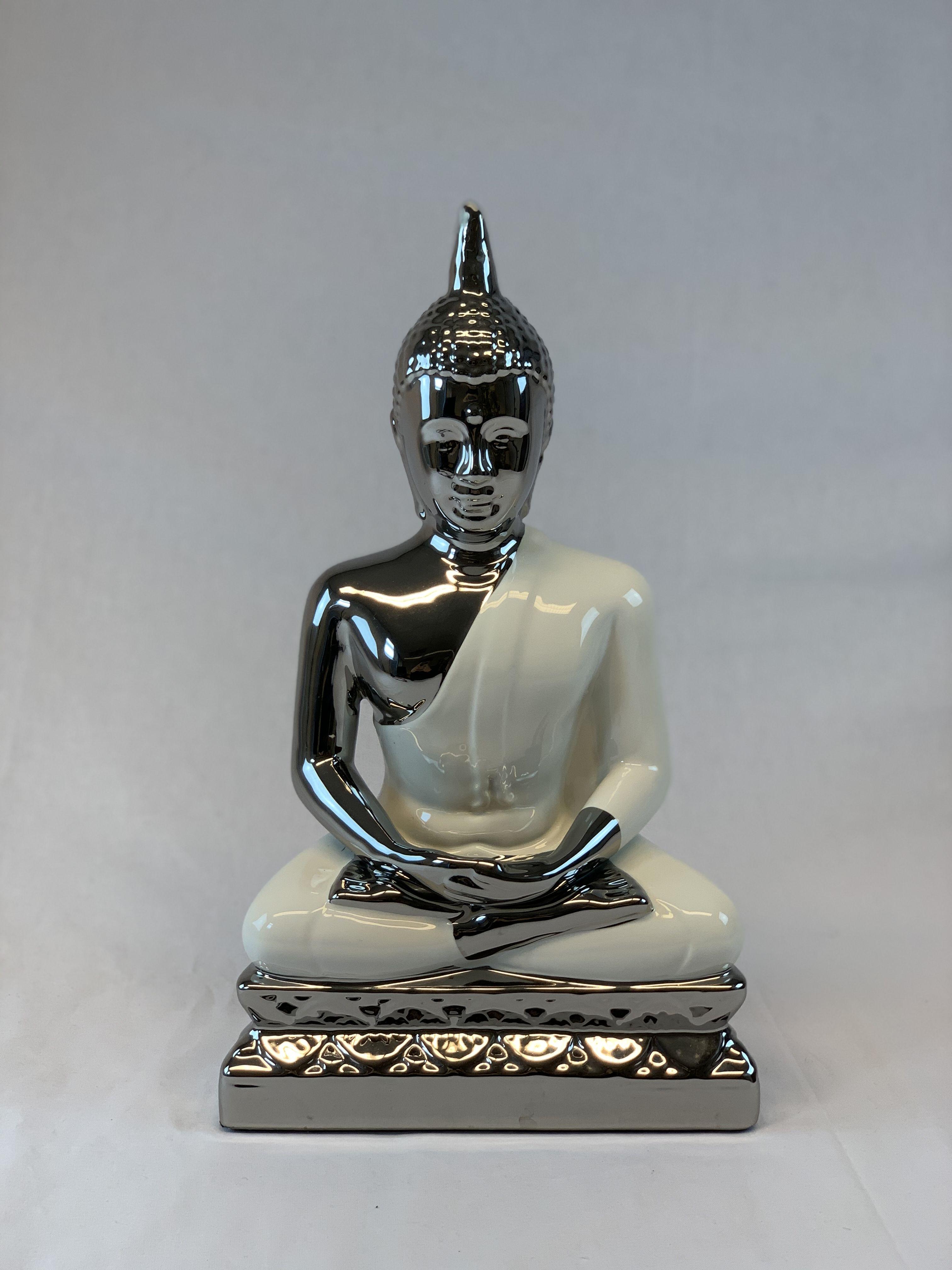 Buddha Wit/Zilver - 37x22cm
