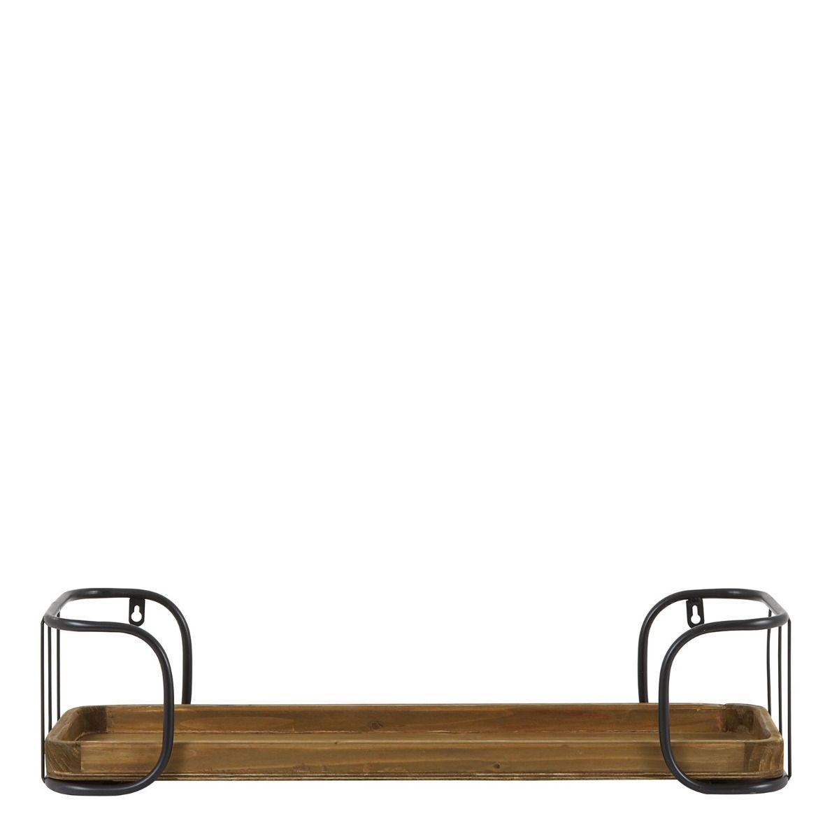 Wauw! Dit wandrek van het trendy Nederlandse merk past echt overal. In de woonkamer voor mooie woonaccessoires, in de keuken voor je mooie servies, in de slaapkamer of kinderkamer of op de badkamer voor al je potjes. Wandrek Zyra heeft een mooie structuur en is super handig! Het wandrek is gemaakt van zwart metaal en heeft mooie houten planken. Daardoor krijgt dit wandrek een natuurlijke uitstraling. Wandrek Zyra heeft een hoogte van 22, cm is 70 cm breed en heeft een diepte van 15,5 cm.