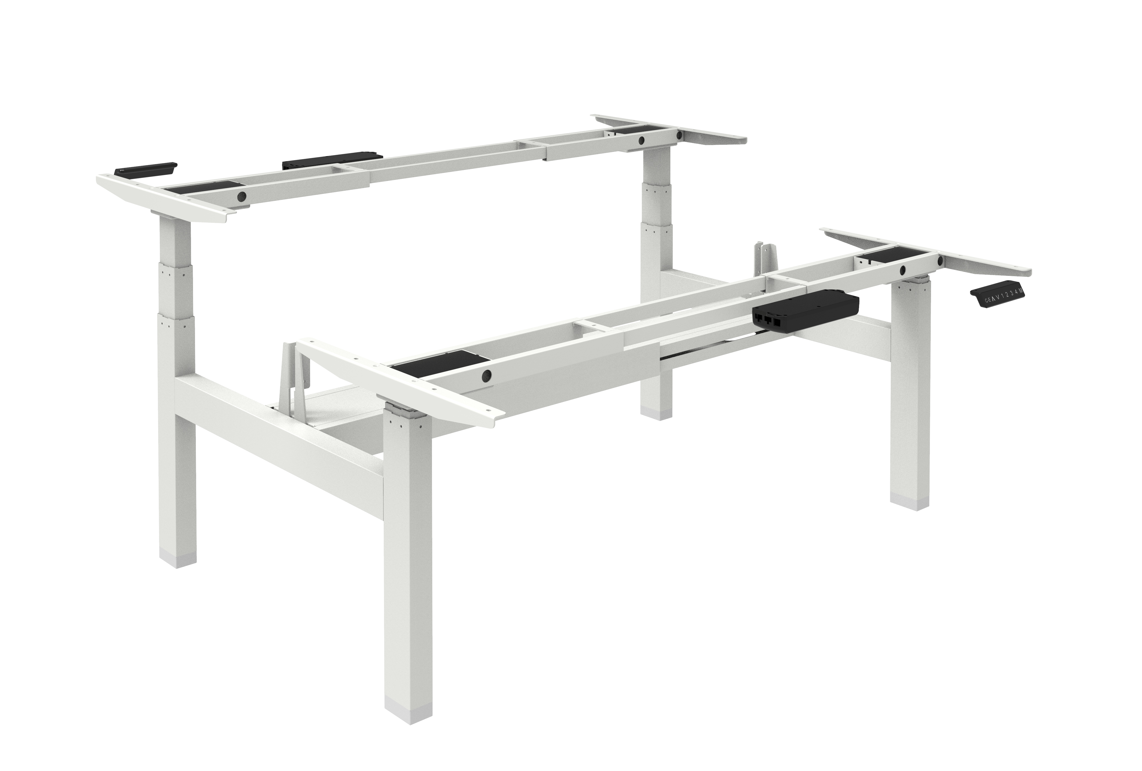 Elektrisch Duo Werkplek 2X 120x80cm Leverbaar In 33 Kleur Combinaties