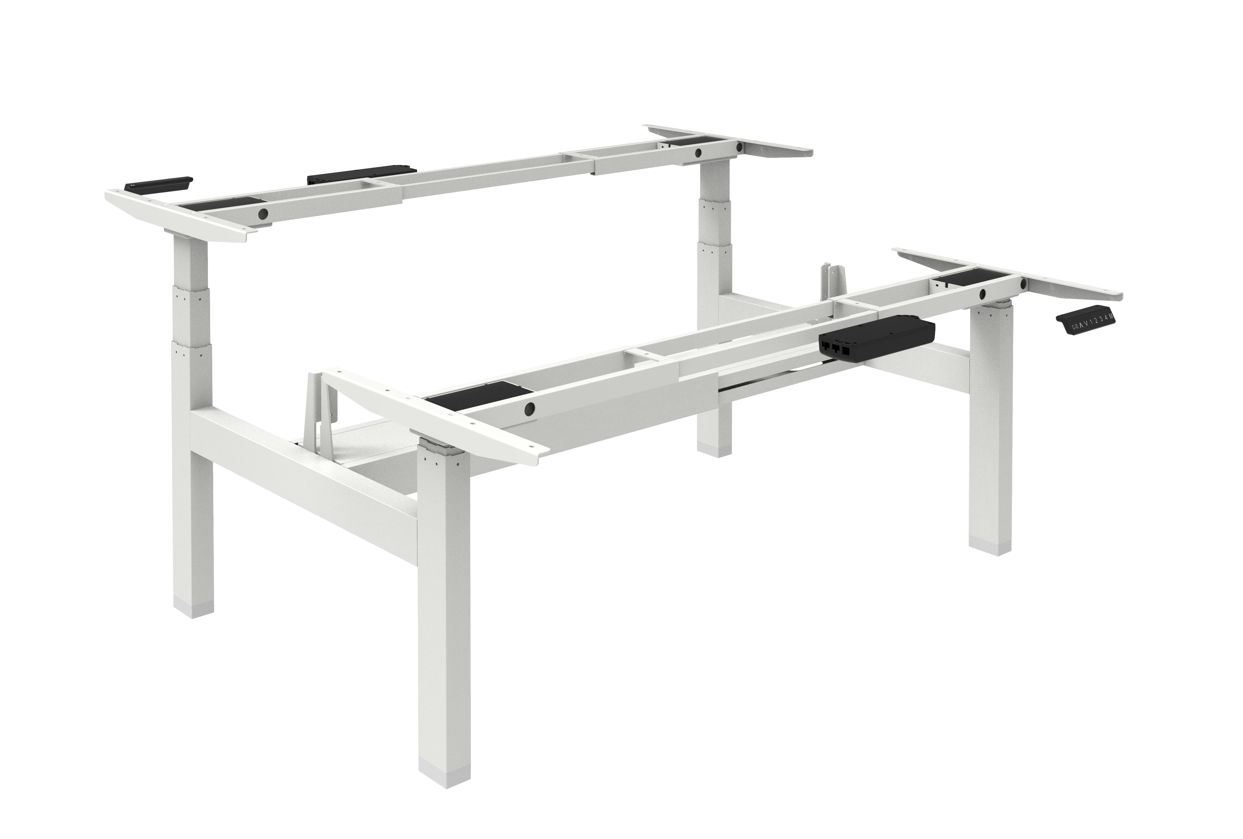Elektrisch Duo Werkplek 2X 160x80cm Leverbaar In 30 Kleur Combinaties onderstel