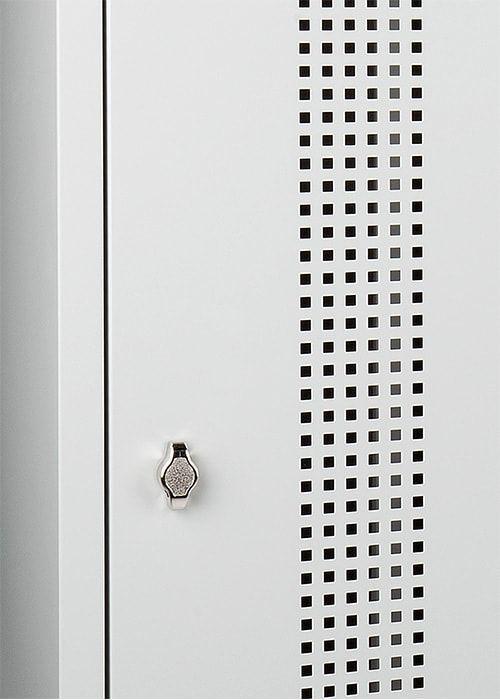 Garderobekast Perfo 3-deuren 180 x 120 x 50cm Leverbaar in 2 kleur Combinaties