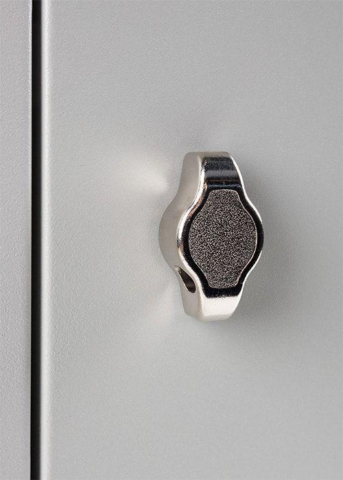 Lockerkast 6-deurs 195 x 60 x 50cm Grijs hangoogsluiting