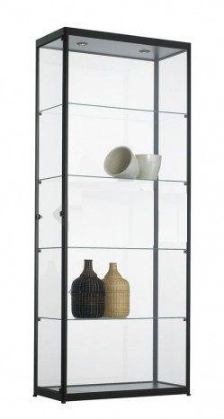 Vitrinekast 200x80x40cm Zwart Of Aluminium