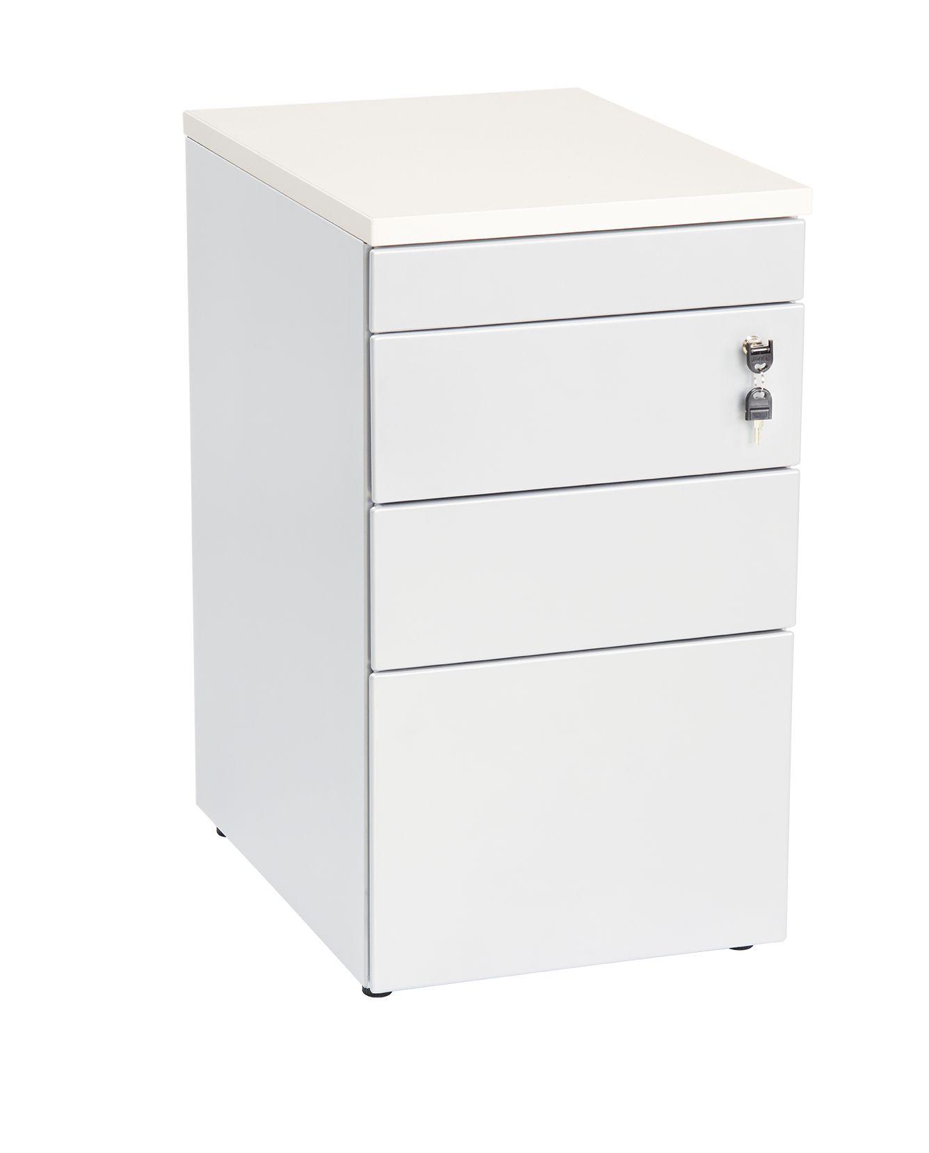 Aanbouwladenblok wit pennenlade 2-laden en dossierlade topblad 80x60cm