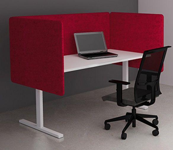 Bureau Wand Akoestische 53cm hoog, Polyester Leverbaar in 14 kleuren 4