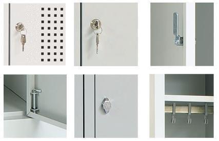 Garderobekast Perfo 3-deuren 180 x 80 x 50cm 2