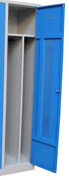 Garderobekast Perfo 3-deuren 180 x 80 x 50cm 1
