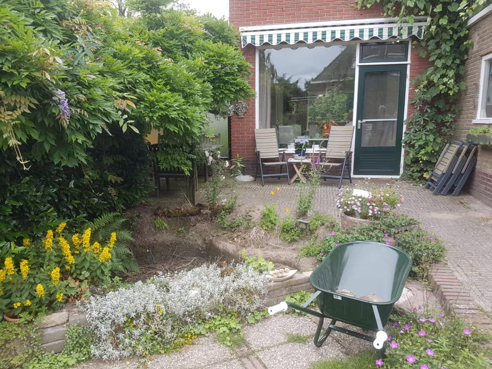 Tuin en oprit compleet opnieuw ingericht