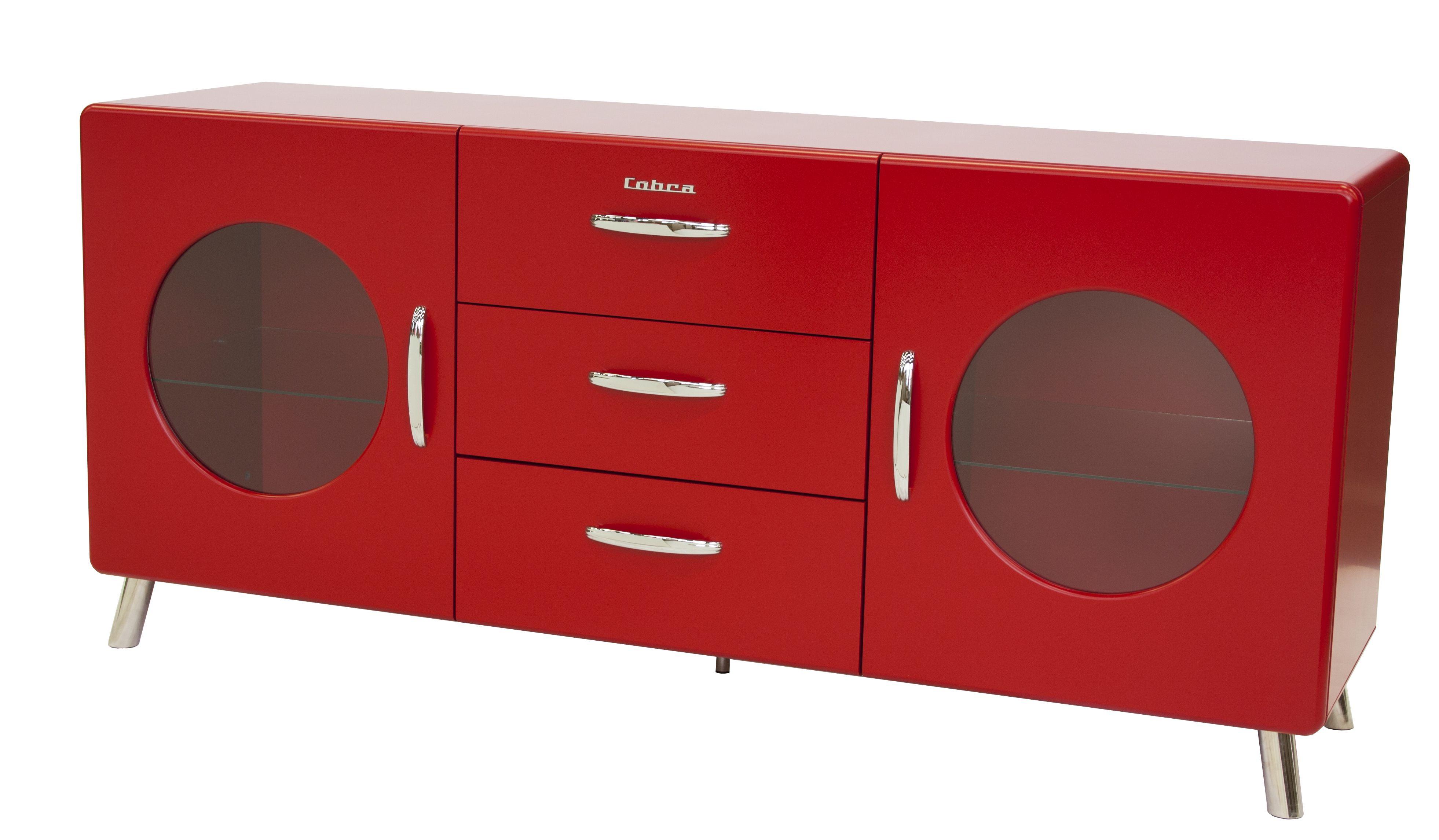 dressoir-kirby -rood