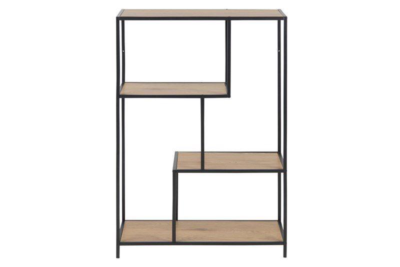 sabro-boekenkast-3-planken-wild-eiken-zwart-frame-2