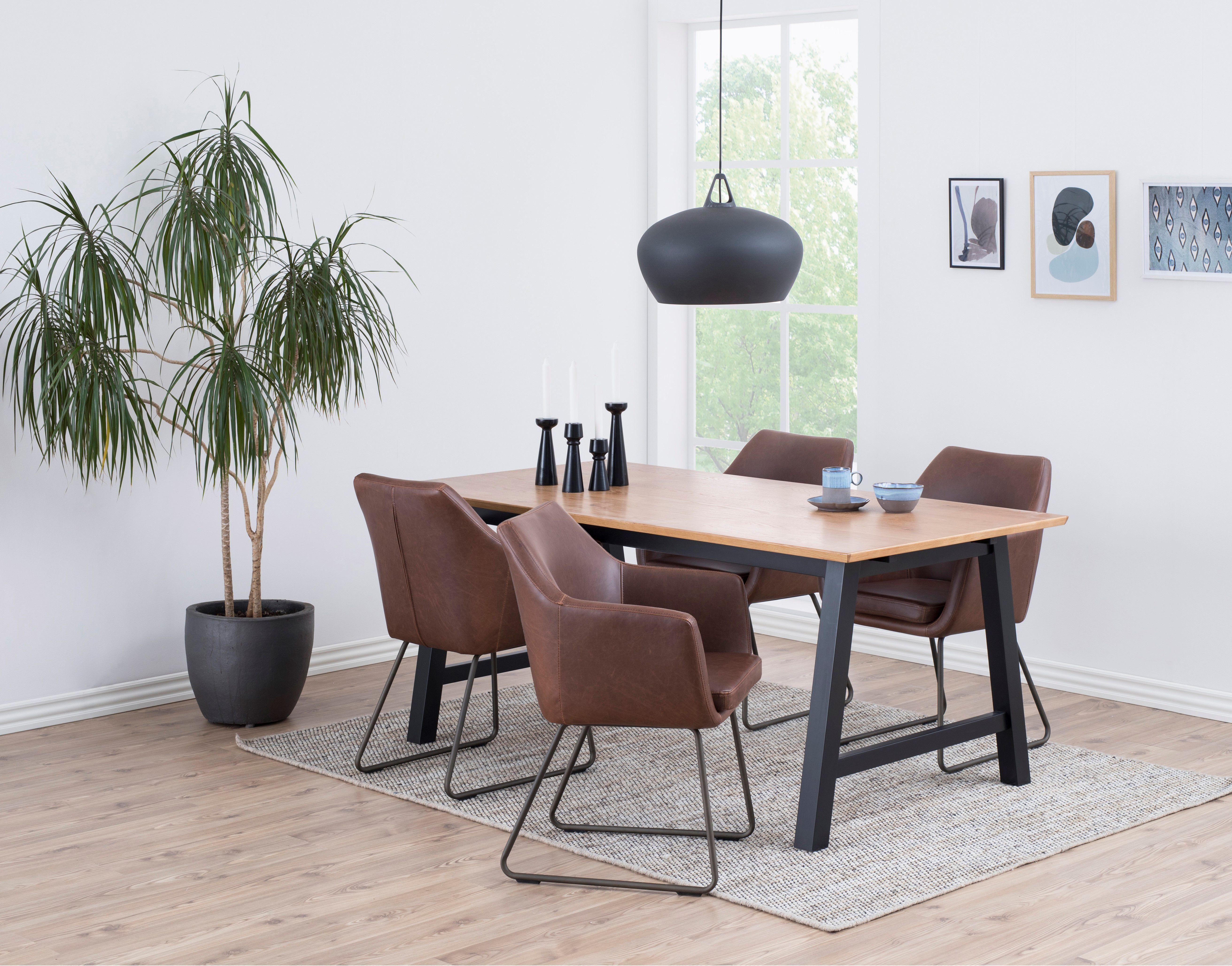 andrup-eetstoel-pu-bruin-zwart-frame-5