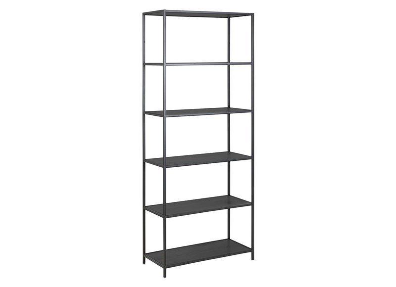 sabro-boekenkast-185cm-zwart-eiken-zwart-frame-1