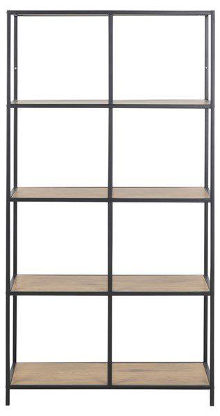 sabro-boekenkast-5-planken-wild-eiken-zwart-frame-2