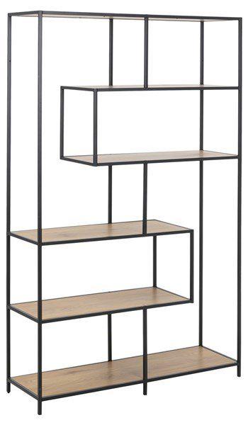 sabro-boekenkast-185cm-114cm-cm-wild-eiken-zwart-frame-1