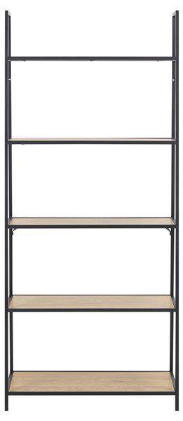 sabro-boekenkast-schuin-wild-eiken-zwart-frame-1