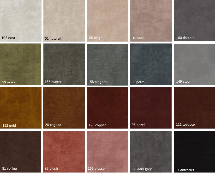 Adore-kleurenkaart