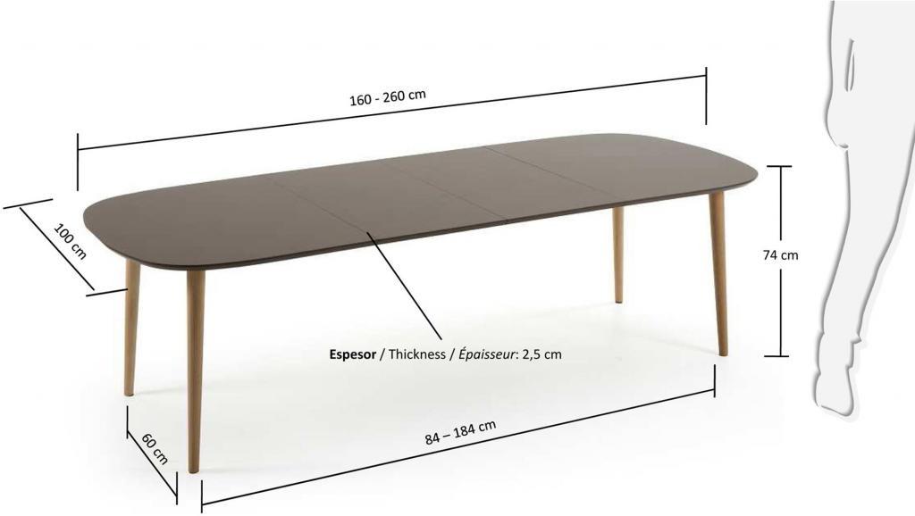 eettafel oqui verlengbaar 160 260 x 90 cm taupe la forma. Black Bedroom Furniture Sets. Home Design Ideas
